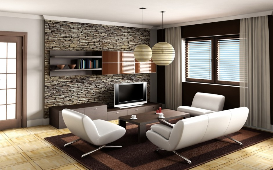 Elegant Living Room Design With Brick Wall: One Of The Most Common Ways Of  Using Brick Walls Is By Integrating Them With The Living Room. Part 34
